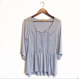 One World Waffle Knit Tunic Size Medium